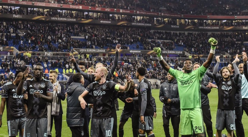 Ajax makes it through to the Europa League finals with a two-match victory of 5-4 against Lyon, 11 May 2017