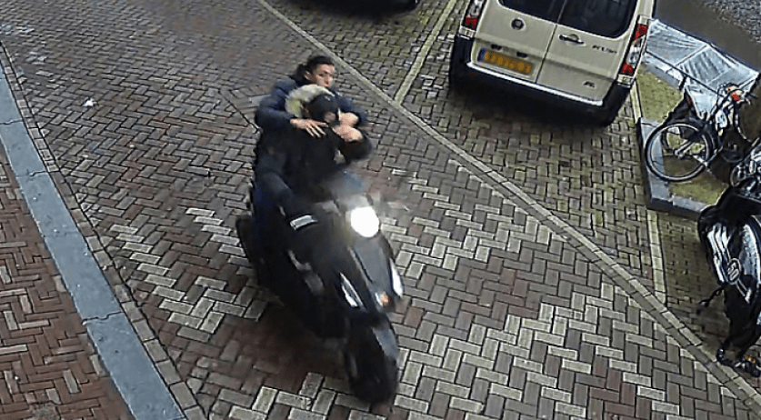 Suspects sought for leaving a hand grenade in Cafe In The City on Kleine-Gartmanplantsoen in Amsterdam, 8 Feb 2017