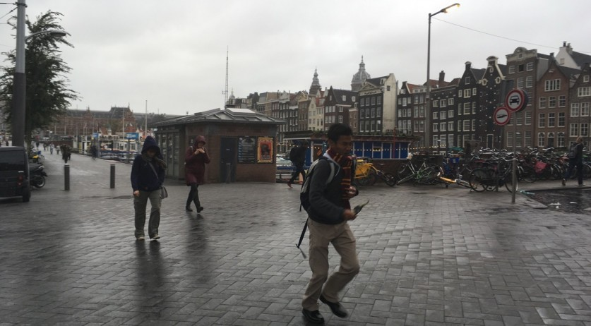 Stormy weather in Amsterdam, 13 Sept 2017