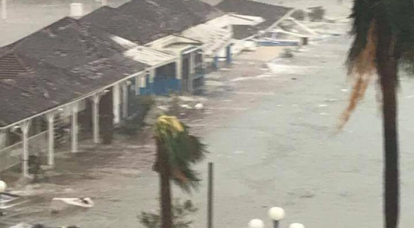 Sint Maarten during Hurricane Irma, 6 Sept 2017