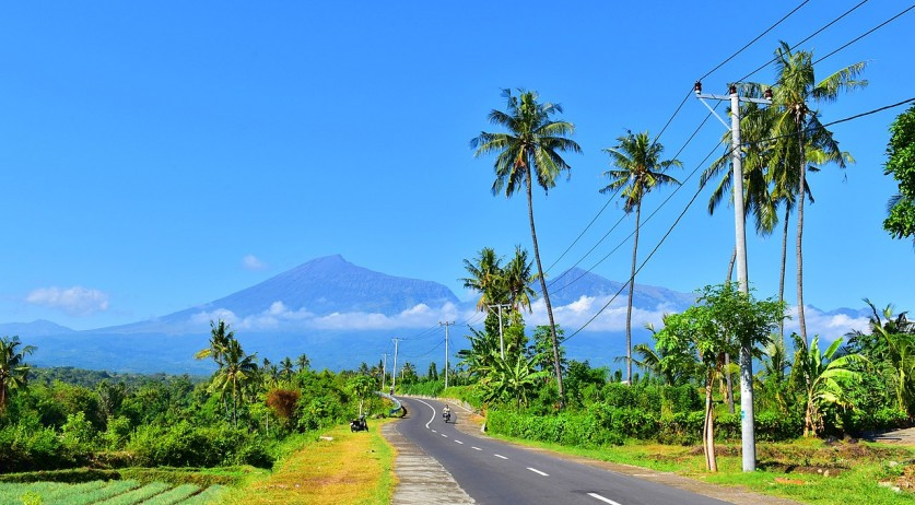 Highway on the Indonesian island of Lombok, 16 June 2017