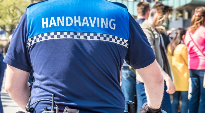 Enforcement officer in Amsterdam, 7 May 2017