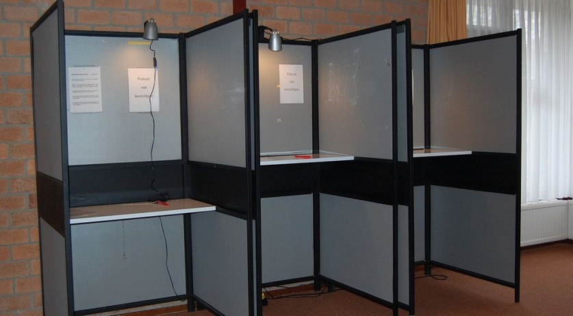 A polling station for the Dutch provincial elections in 2015