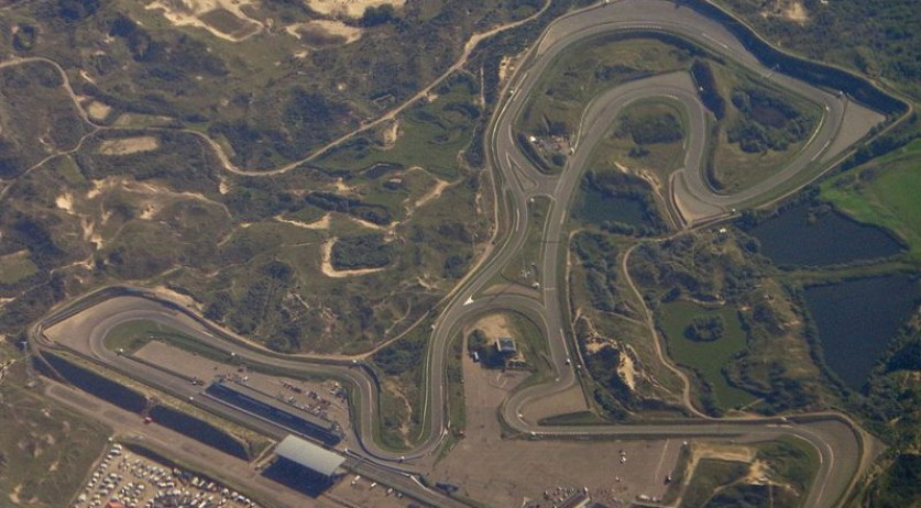 Aerial photo of the Zandvoort circuit in 2016