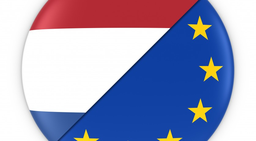 Flags of Netherlands and Europe