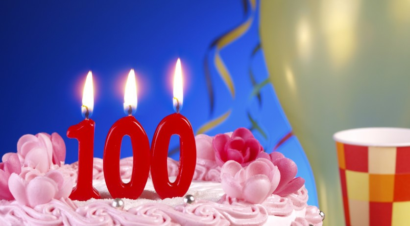 100 birthday candles