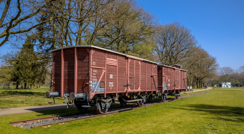 A former Nazi deportation train is now a monument at Camp Westerbork
