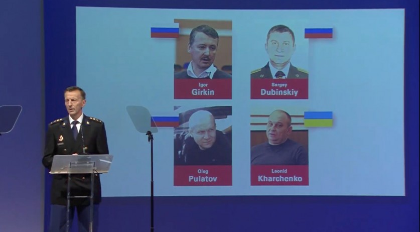 Wilbert Paulissen identifying the first four suspects to be prosecuted for the MH17 disaster, 19 June 2019