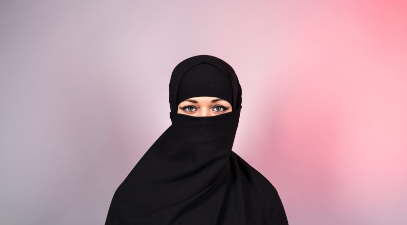 Woman wearing a burka