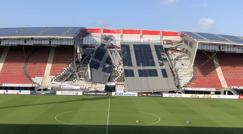 Az Stadium Collapse Caused By Fierce Winds Not Solar Panels 1 Nl Times
