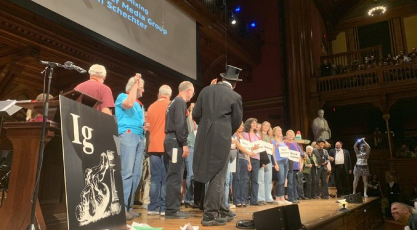 The Ig Nobel Prize awards for 2019 at Harvard University, 12 Sept 2019