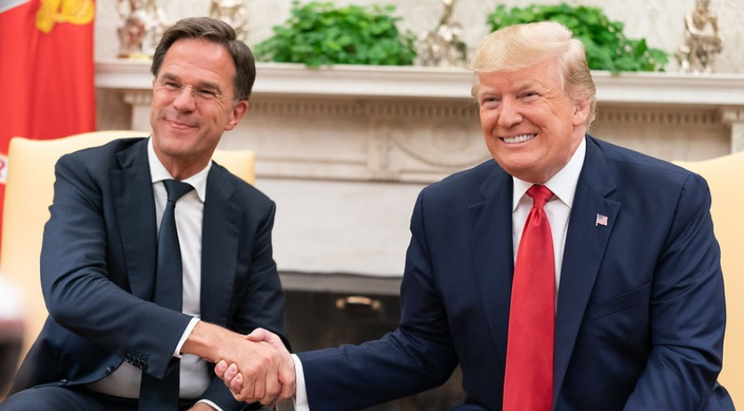 Mark Rutte and Donald Trump