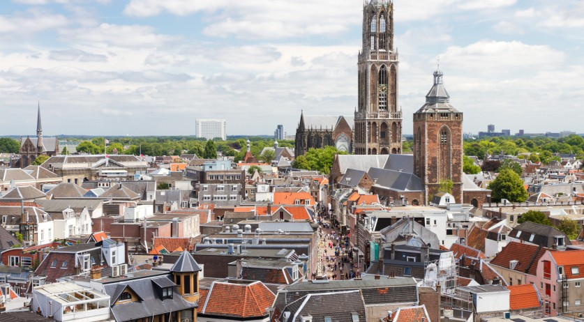 Aerial photo of Utrecht