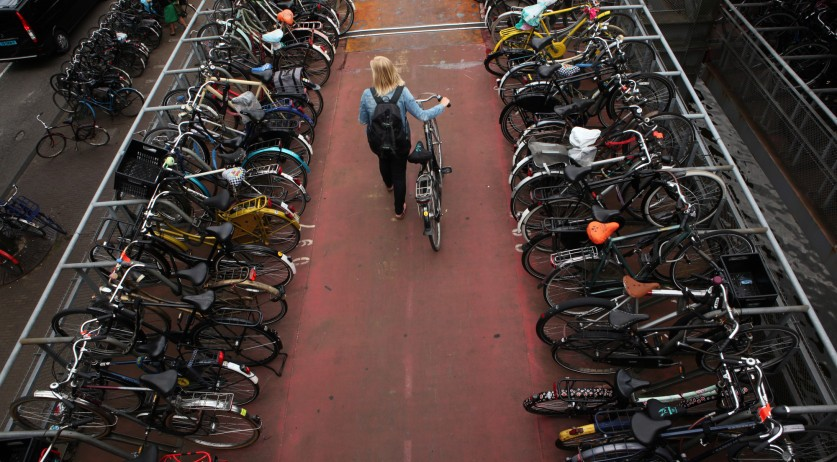 Bicycle parking next to Amsterdam Central Station