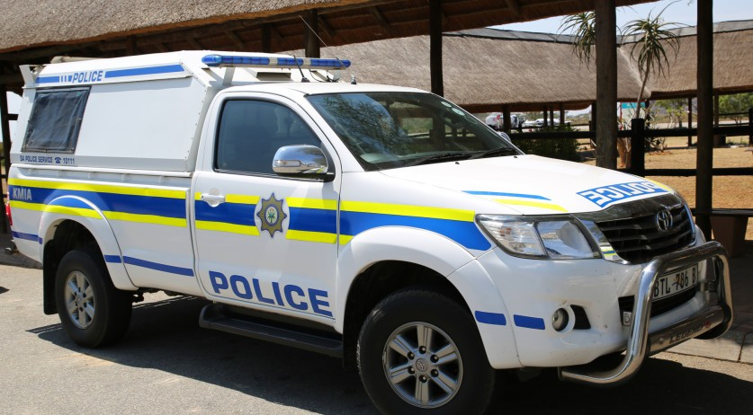 A South African police vehicle in Mpumalanga