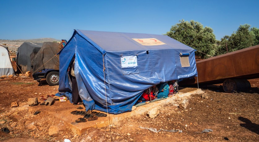 Refugee camp in Idlib, Syria
