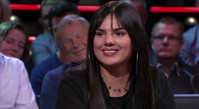 Famke Louise on DWDD in 2018