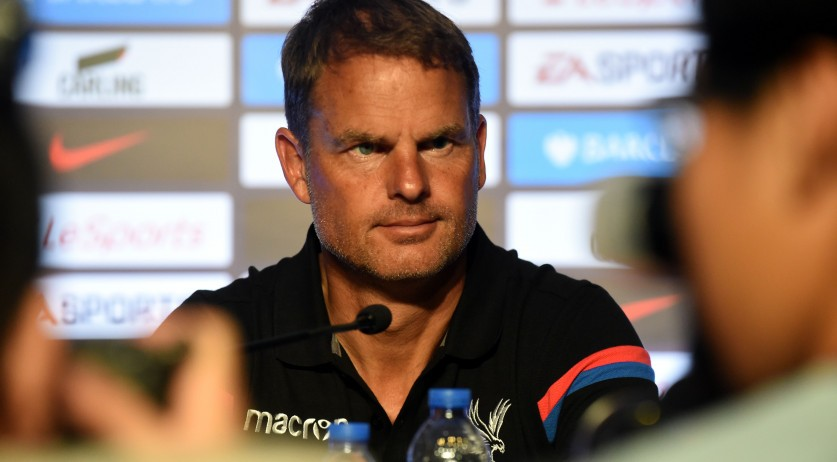 Frank de Boer during a press conference in 2017