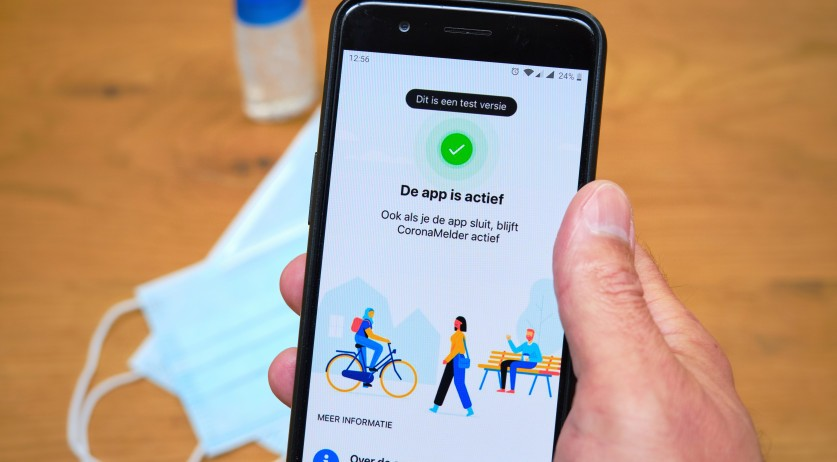 Test version of the Coronamelder app from the Dutch government in July 2020