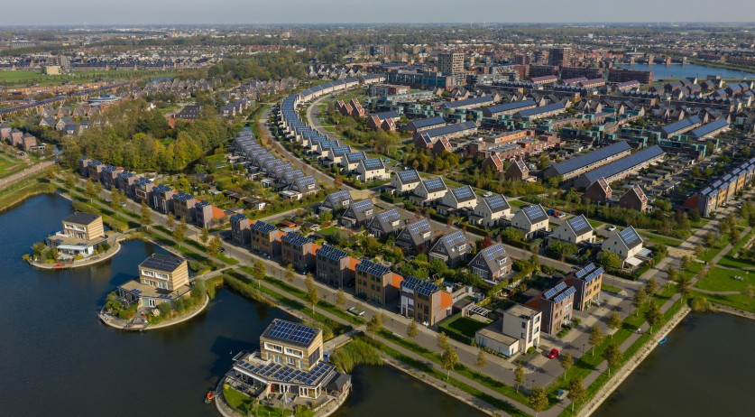 An aerial view of Heerhugowaard, Noord-Holland, in 2018