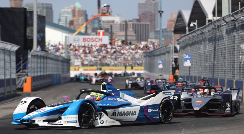 Formula E race in New York City. July 14, 2019