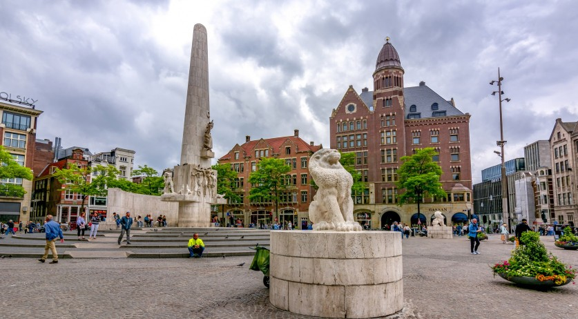 National Monument on Dam Square in Amsterdam