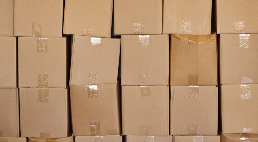 Piled boxes
