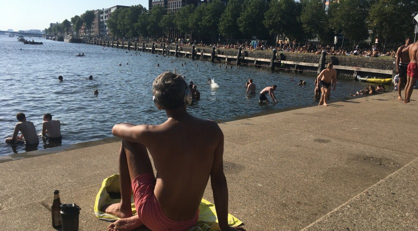 At Bogortuin on Java-eiland in Amsterdam Oost during the August 2020 heat wave. August 9, 2020