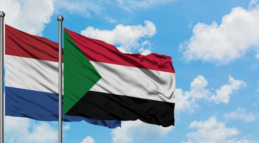 Sudanese and Dutch flag