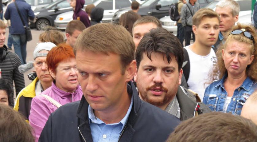 Leonid Volkov with Alexei Navalny