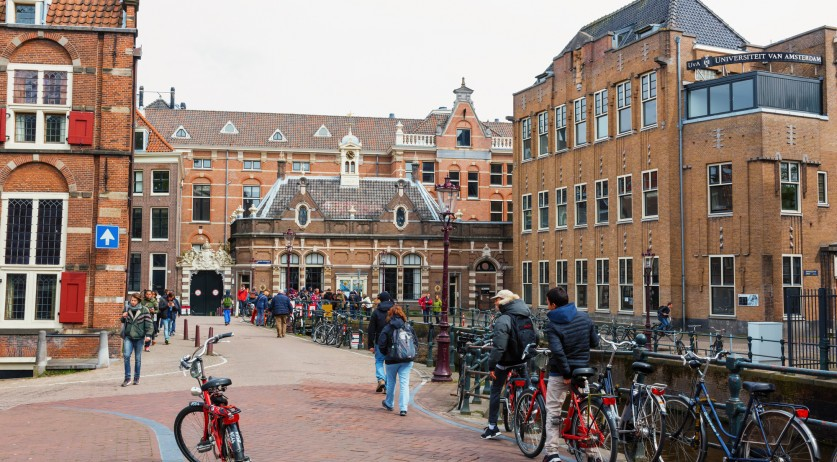 University of Amsterdam buildings in the city center. 29 Apr 2016.