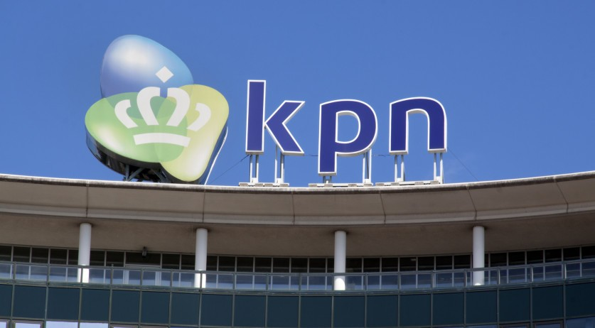 KPN logo on a building in the Hague. 6 Jun 2015.