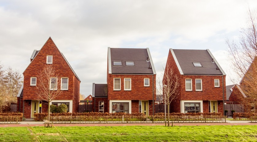 Houses in the suburban area in the Netherlands in 2015