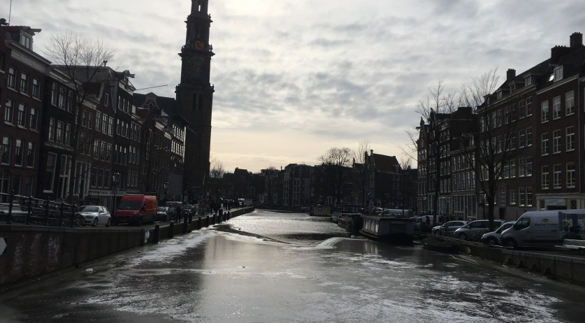 Ice on the Prinsengracht, 1 March 2018
