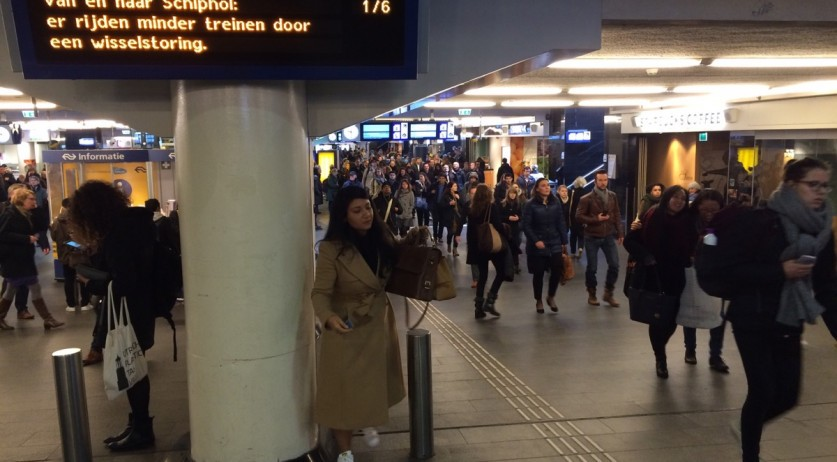 Passengers at Amsterdam Centraal