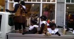 "Savage like ""cannibal"" Zwarte Piet at Sinterklaas' arrival in Leiden, 19 Nov 2016"