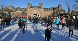 Skating on Amsterdam's Museumplein