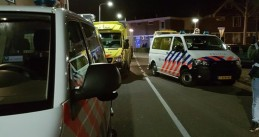 Emergency services on Branding in Hellevoetsluis after a double shooting, 26 Dec 2016