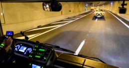 First trip through the Koning Willem-Alexander tunnel on the A2 underneath Maastricht, 16 Dec 2016
