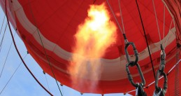 Burner on a hot air balloon