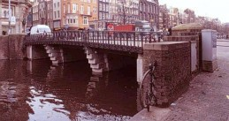 An Amsterdam bridge designed by architect Piet Kramer in 1921