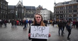 Student Milou Deelen's video to stop slut shaming at student association Vindicat