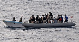 A combined task force arrest suspected pirates off the coast of Somalia