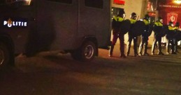 Police doing a drug raid at the Grolsch Veste stadium in Enschede during a FC Twente-PSV match, 6 Apr 2017