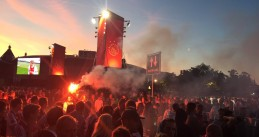 Ajax fans watching the Europa League finals on the Museumplein in Amsterdam, 24 May 2017