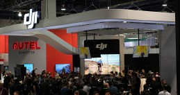 DJI booth at CES 2016 in Las Vegas
