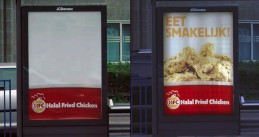 Halal Fried Chicken's Ramadan ad hides pictures of food during the day