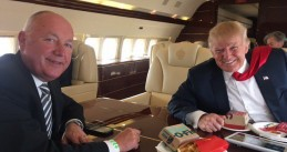 Pete Hoekstra and Donald Trump, Oct 2016