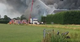 20,000 pigs killed in a fire on a farm on Erichemsewal near Erichem in Gelderland, 27 Jul 2017