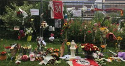 Memorial for Ajax footballer Abdelhak Nouri at AMC hospital in Amsterdam, 16 Jul 2017